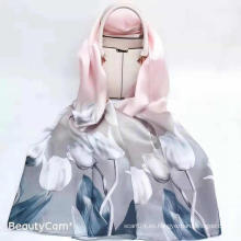 Bufanda de mujer de seda de morera de lujo 100