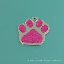 Mode décorer les étiquettes de griffe rose de chat de compagnie (B2)