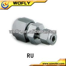 Unidad reductora de acero inoxidable de alta calidad, racor de tubo de compresión