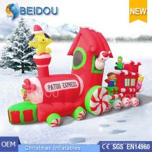 Éclairage Décorations de Noël Décorant Sleigh Inflatable Christmas Train