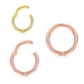316L Surgical Steel Titanium Plated Faux Fake Septum Ring Hinged Nose Ring