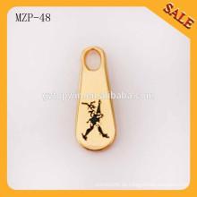 MZP48 Alibaba China Mode Kleidungsstück Zubehör benutzerdefinierte dekorative Metall Reißverschluss ziehen