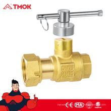 Válvula de bloqueio com cw617n dn15 material de latão cor de bronze e CE aprovado em TMOK