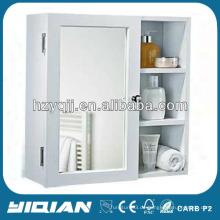 Modernes weißes PVC- oder MDF-Kabinett-Speicher-Spiegel-Kabinett-Regale