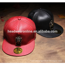 Dongguang factory produce cool leather men snapback caps cheap