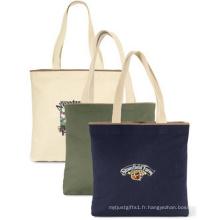 Promotion en gros coton main sacs femmes toile Beach Tote Bag