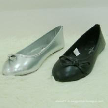 Nouveaux chaussures enfants couleur noire chaussures chaussures enfant en gros