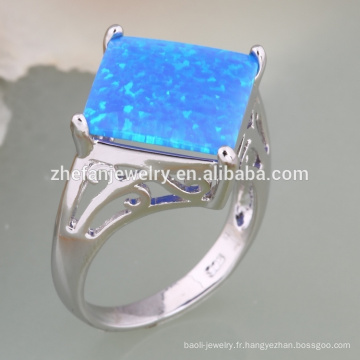 anneau de opale de bijoux de conception de fleur de modélisation