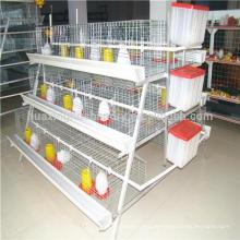 Buena capacidad de ventilación Una jaula de pollo automática tipo para Nigeria