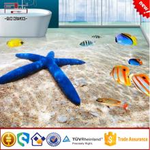 Azulejo del suelo 3d para el baño imagen del mundo marino azulejo y la pared de porcelana 3d