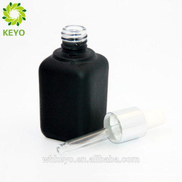 30 ml glass dropper bottle empty beard oil bottle square frosted glass bottle wholesale