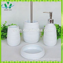 Rubber coated bathroom soap dispenser