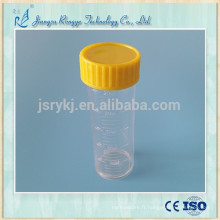 Bouteille d'urine à urine médicale transparente 25ml PS