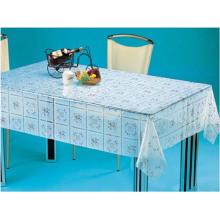PVC Printed Transparent Tablecloth (TT0208)