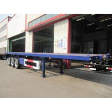 40 'FLATBED مع AIR SUSPENSION TYRE SEMI-TRAILER