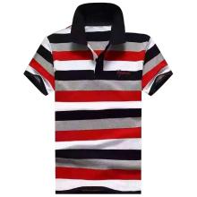 2016 Fashion Man Garn gefärbt Streifen Polo-Shirt