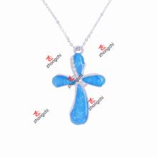 Encantos de moda cristal collar colgante cruz para regalos de navidad (CPN50824)