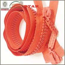 10 # Open End Two Line Crystal Zipper