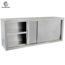 Настенный шкаф из нержавеющей стали для раздвижных дверей