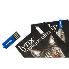 Memoria USB plástico del clip de papel del libro
