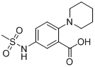 5-(methylsulfonamido)-2-(piperidin-1-yl)benzoic acid