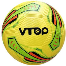 Yellow Color Pebble Surface High Quality Rubber Soccer