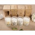 Diseño de moda Soy Wax Candle como regalo en una hermosa caja
