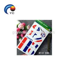 França Temporária Legal Bandeira Do Tatuagem Adesivo Transferência De Água Jogo De Futebol de Abastecimento