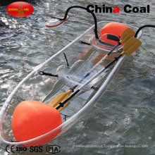 2 Seats Transparent Plastic Fishing Pedal Boat Ym-01