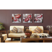 Bloom Wall Art Red Flowers Oil Painting