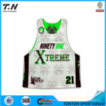Hight Quality Cheap Price Custom Made Sublimation Youth′s Reversible Lacrosse Jersey