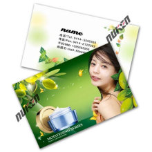 2015 Green Fashional Clear Plastic Business Cards