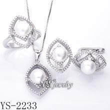 Modeschmuck Perlen Set 925 Silber