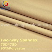 Tissu tissé par Spandex de polyester de 75D pour la mode de textile (GLLML2)