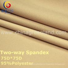 Tela tecida spandex do poliéster 75D para a forma de matéria têxtil (GLLML2)