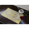 Cheap and Strong PVC Tablemat with Lace Gold Size 30*46cm Factory Wholesale