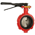 ductile cast iron wrench operator butterfly valve wormgear type turbine flanged butterfly valve
