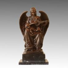 Statue de la mythologie La sculpture de bronze d'angle de dieu TPE-916