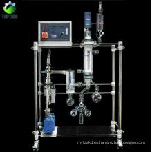 Sistema de destilación de corto recorrido para la destilación fraccionada de petróleo crudo