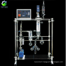 Short path distillation system for crude oil fractional distillation