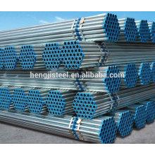 Tubo de acero galvanizado ERW para transporte de fluidos