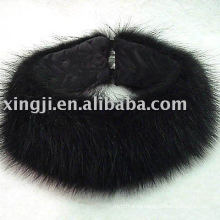 Черный Енотовидная Собака Мех Оголовье