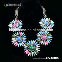 hot selling Chunky rhinestone necklace statement necklace