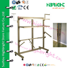 metal hanging clothes display racks with 6 arms
