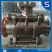 Válvula de esfera de 3 peças cf8m 1000wog