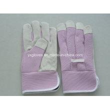 Pink Garden Handschuh-Billig Handschuh-Sicherheitshandschuh