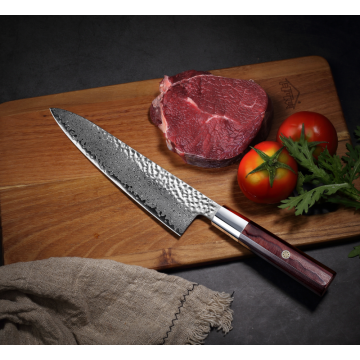 cuchillo de chef octagon superior grado damasco