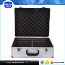 Small fashional portable practical aluminum tile case with handle