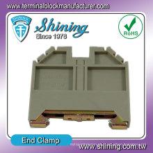 TF-ECH Suporte de cassete Espalhador de junção de extremidade Bujão de extremidade de trilho DIN de 35 mm
