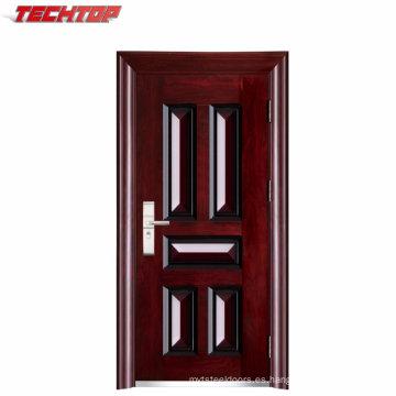 TPS-044 puertas blindadas de seguridad de acero puertas blindadas de acero puerta de armadura de madera de acero